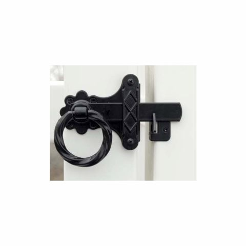 Snug Cottage Hardware Twisted Ring Gate Latches for Vinyl Fence Gates