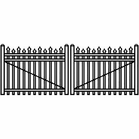 Jerith Industrial Aluminum Double Driveway Gate - Style #I100