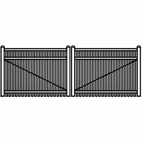 Jerith Industrial Aluminum Double Driveway Gate - Style #I402