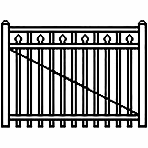 Jerith Industrial Aluminum Single Driveway Gate - Style #I200