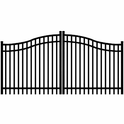 Jerith Aluminum Double Swing Estate Gate Style #E202