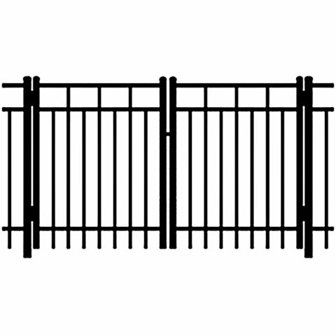 Ideal Carolina #403 Aluminum Double Swing Gate - Standard