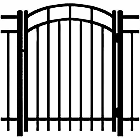 Ideal Carolina #4033 Aluminum Arched Walk Gate