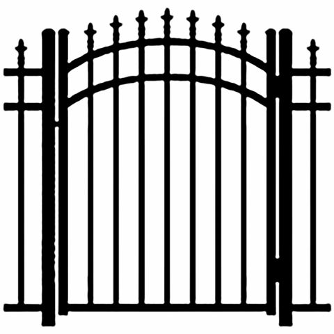 Ideal Finials #6004 Aluminum Arched Walk Gate
