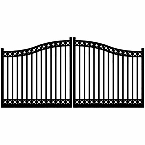 Ideal #8330 Aluminum Double Swing Gate, with Top & Bottom Rings