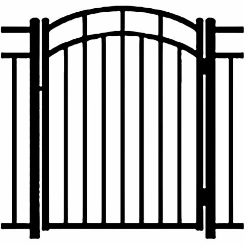 Ideal Carolina #4034 Aluminum Arched Walk Gate