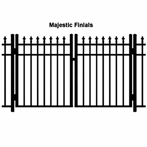 Ideal Finials #600M Aluminum Double Swing Gate - Modified