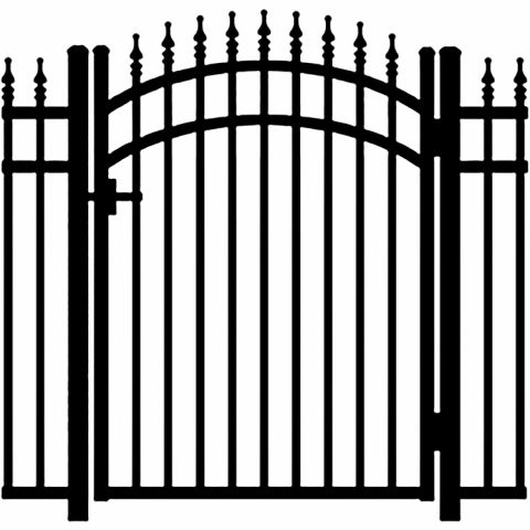 Jerith Legacy #111 Modified Aluminum Accent Gate w/Finials