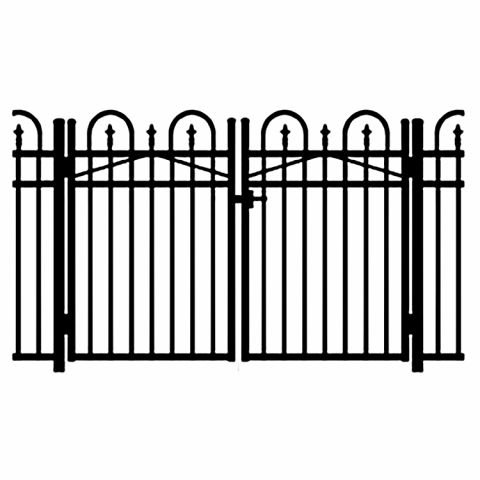 Jerith Legacy Concord #111 Modified Aluminum Double Swing Gate w/Finials