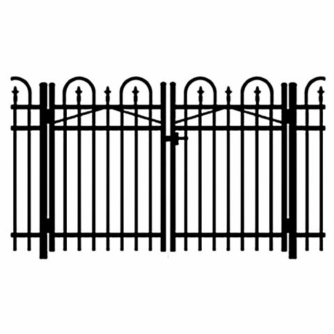 Jerith Legacy Concord #111 Aluminum Double Swing Gate w/Finials