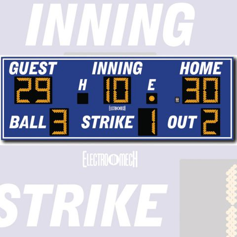 Electro-Mech Outdoor Baseball/Softball Scoreboard Model LX1250