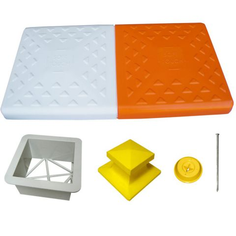 """AFP Soft Touch Double First Base w/ 7"""" Ground Mount"""