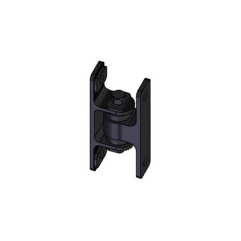 Nationwide Industries HD Bearing Hinge - Body Alum., Bolt-on, Black - Yoke Alum., Bolt-on, Black - Each
