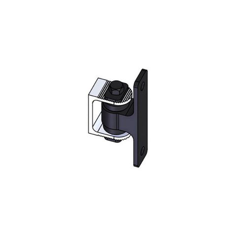 Nationwide Industries HD Bearing Hinge - Body Alum., Bolt-on, Black - Yoke Alum., Weld-on, Mill - Each