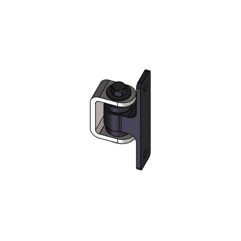 Nationwide Industries HD Bearing Hinge - Body Alum., Bolt-on, Black - Yoke Steel Weld-on, Mill - Each