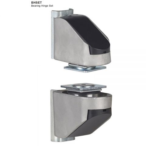 "Locinox Bearing Hinge Set, Stainless Steel, 2 Way Adjustable, 90 Degree, Fits 1-1/2"" or 2"" Posts, Pair of 2"