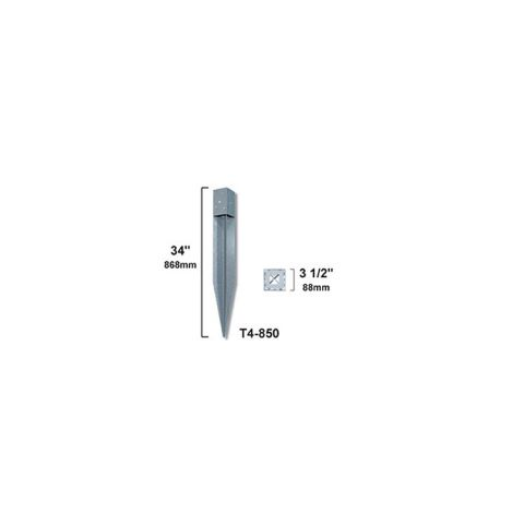 """OZCO Building Products T4-850 Oz-Post for 3-1/2"""" Square Post"""