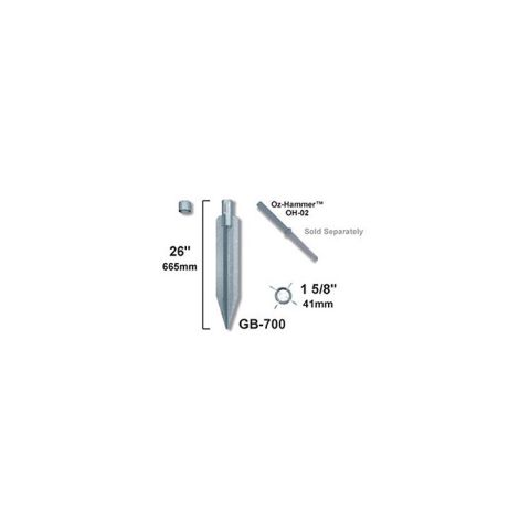 OZCO Building Products Oz-Post Drive In Post Anchors for Round Posts