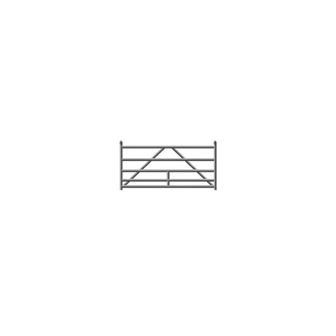 Hoover Fence G-Series Tubular Barrier Single Gate Kits - Galvanized Steel