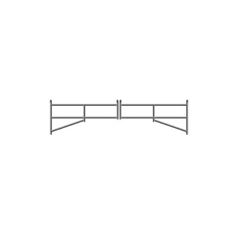 Hoover Fence H-Series Tubular Barrier Double Gate Kits - Aluminum