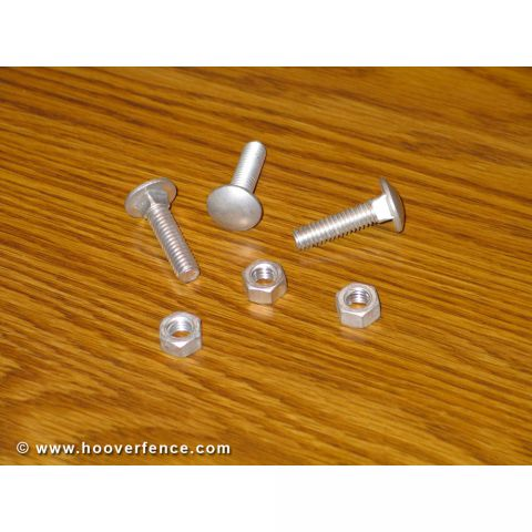 Chain Link Fence Carriage Bolts - Aluminum