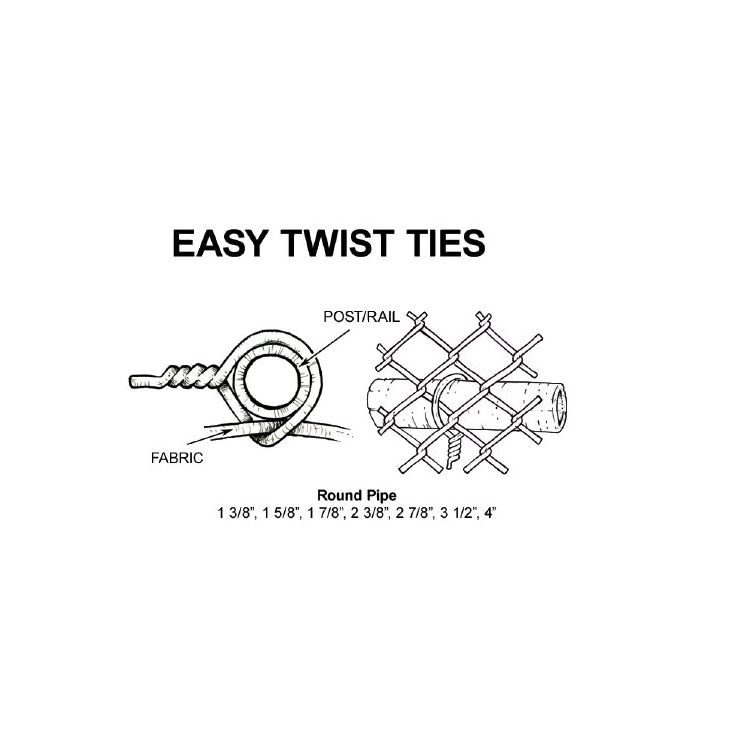 Easy Twist Preformed Steel Tie Wires Hoover Fence Co