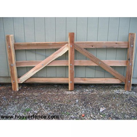 Hoover Fence Wood Split Rail Gates - Western Red Cedar w/ Steel Frames