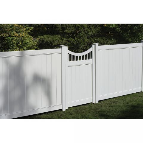 Bufftech Chesterfield Concave with Victorian Accent Vinyl Gates
