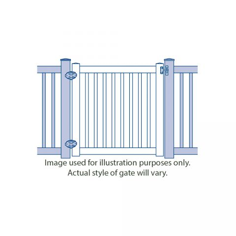 Bufftech Chesterfield with Lattice Accent Vinyl Gates