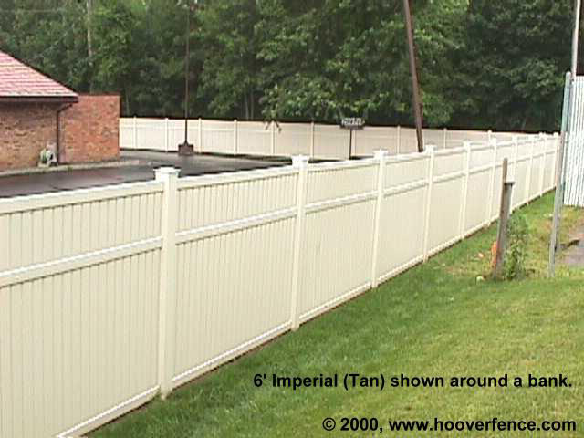 Bufftech Imperial Vinyl Fence Sections Hoover Fence Co