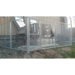 Hoover Fence Chain Link Temporary Fence Panels With Gate (CL-TEMP-PANEL-G)