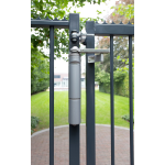 Locinox VERTICLOSE-STD Heavy-Duty Door or Gate Closer for 180° Swing Situations Installed Close-up