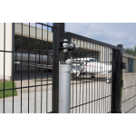 Locinox VERTICLOSE-STD Heavy-Duty Door or Gate Closer for 180° Swing Situations Installed at Airport