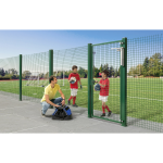Locinox VERTICLOSE-STD Heavy-Duty Door or Gate Closer for 180° Swing Situations Installed at Soccer Field