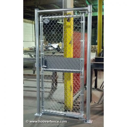 Hoover Fence Install Optional Pad Mount Plates - PreFab Gate Kit