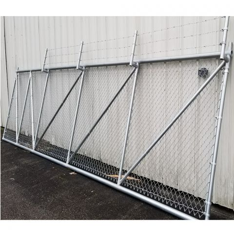 Hoover Fence Chain Link Steel Cantilever Slide Gates
