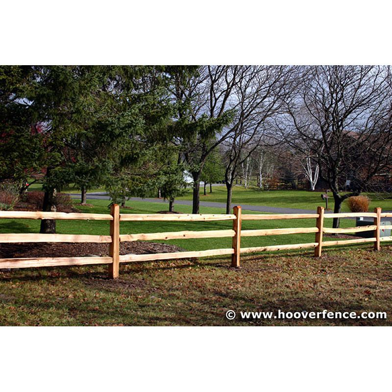 Western Red Cedar Split Rail Fence Rails Hoover Fence Co