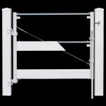 Jewett-Cameron Double Post and Rail Fence Vinyl Gate Frame (DAG-22006-P)