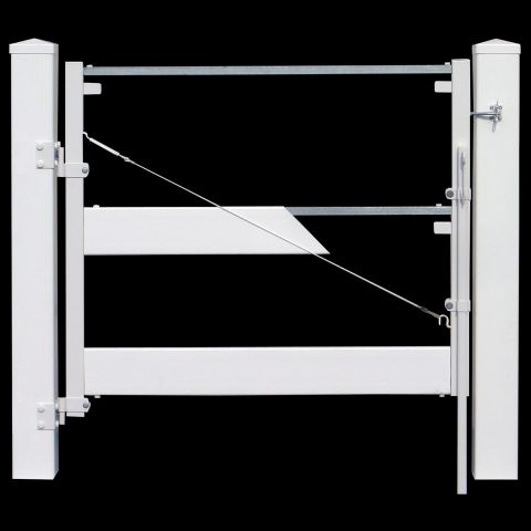 Jewett-Cameron Double Post and Rail Fence Vinyl Gate Frame