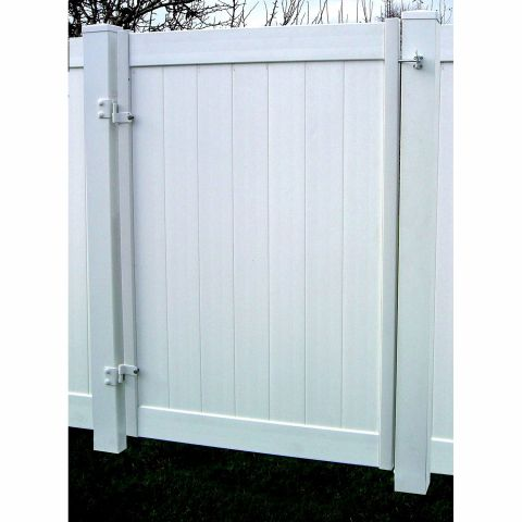Jewett-Cameron Double Privacy Fence Vinyl Gate Frame