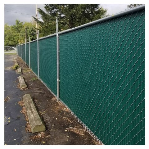 PVC Privacy Slats for Chain Link Fences - Winged Style