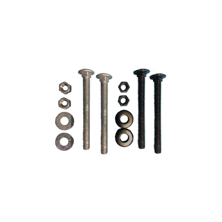 "Snug Cottage Hardware 6.5"" HDG Carriage Bolts, Nuts & Washers (5 Pack) for 8256"
