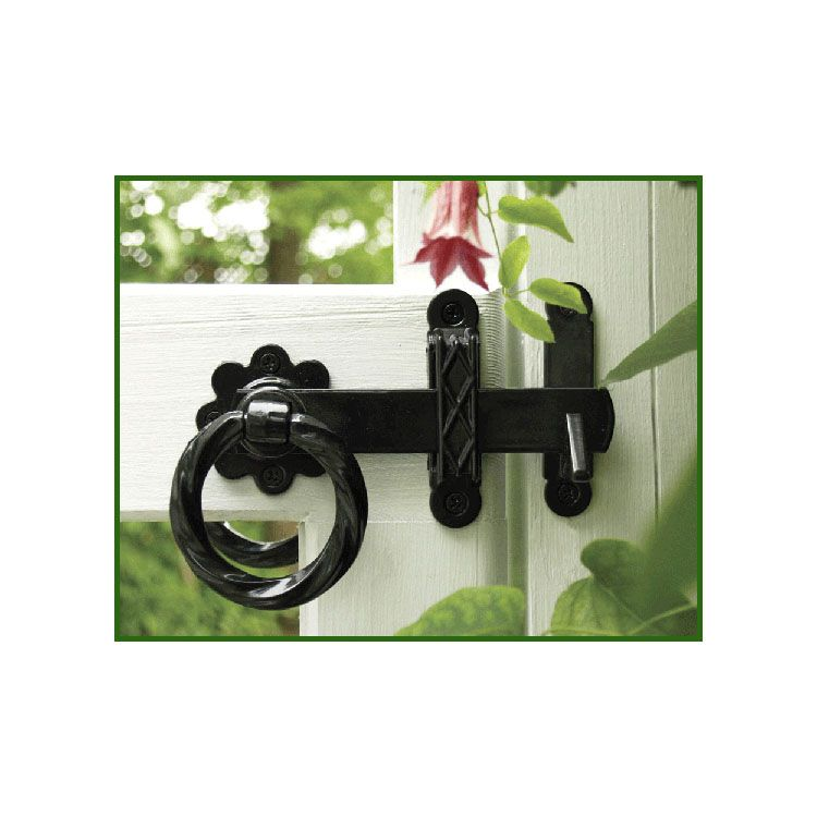 Snug Cottage Hardware Twisted Ring Gate Latches For Wood