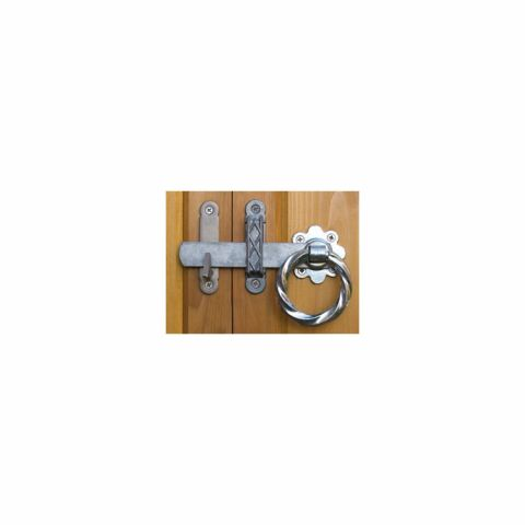 Snug Cottage Hardware Twisted Ring Gate Latch for Wood Gates - Galvanized