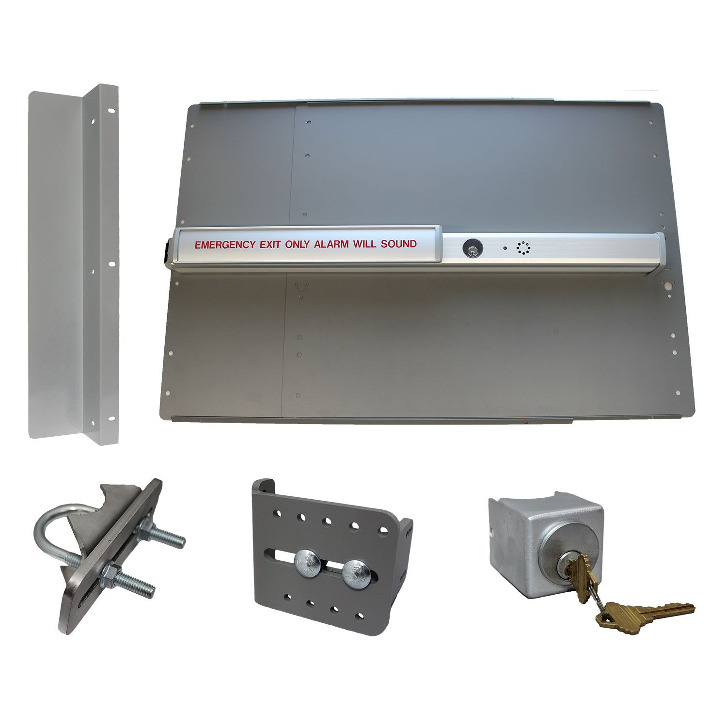 Lockey USA PS-2500-ALARM Edge Safety Panic Bar Kits for Gates