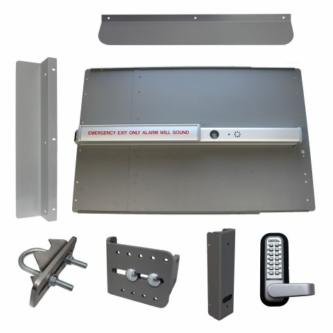 Lockey USA PS-2500-ALARM Edge Security Panic Bar Kits for Gates
