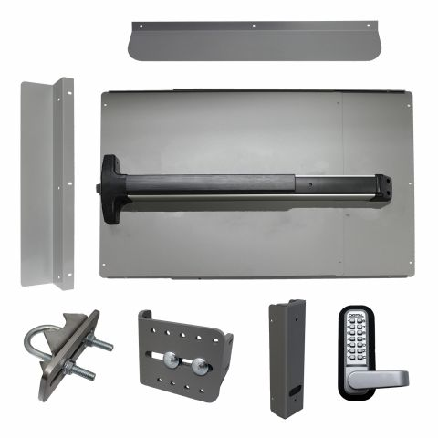 Lockey USA PS-DX Edge Security Panic Bar Kit for Gates
