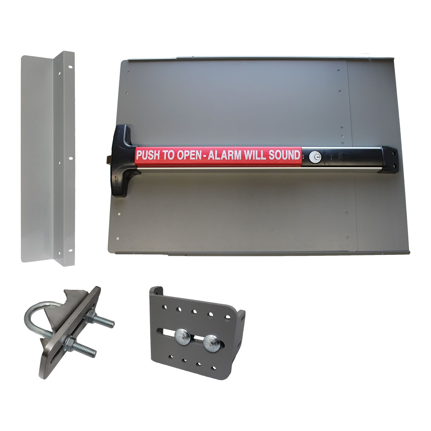 Lockey USA PS-DX Alarmed Edge Value Panic Bar Kit for Gates