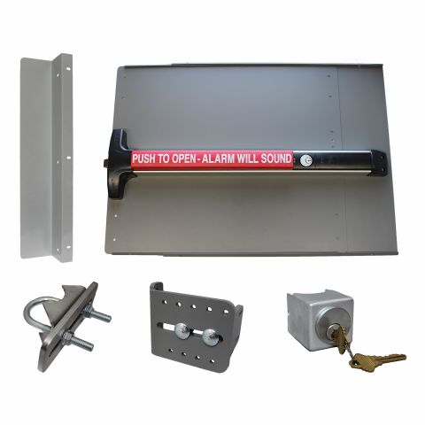Lockey USA PS-DX Alarmed Edge Safety Panic Bar Kit for Gates