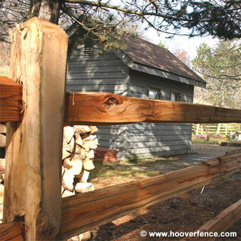 Wood Split Rails - Cedar